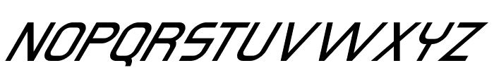 Omicron Zeta Slant Font UPPERCASE