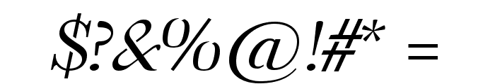 Omologo Personal Italic Font OTHER CHARS