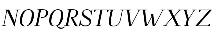 Omologo Personal Italic Font UPPERCASE