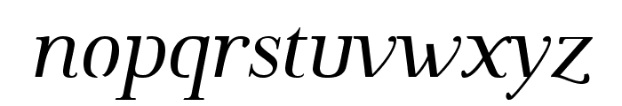 Omologo Personal Italic Font LOWERCASE