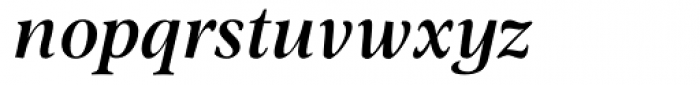 Omnibus SemiBold Italic Font LOWERCASE