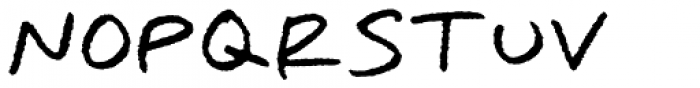 Omoshiroi Rough Font UPPERCASE