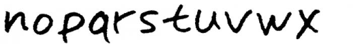 Omoshiroi Rough Font LOWERCASE