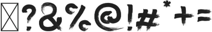 One Custom Brush Regular otf (400) Font OTHER CHARS