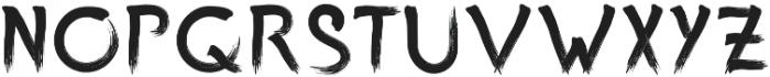 One Custom Brush Regular otf (400) Font LOWERCASE