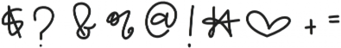OneWishScript otf (400) Font OTHER CHARS