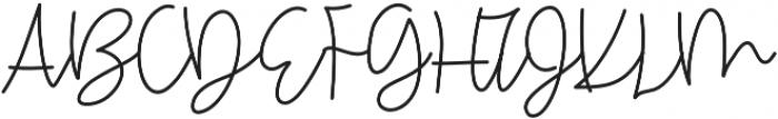 OneWishScript otf (400) Font UPPERCASE