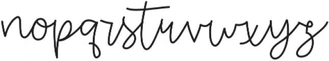 OneWishScript otf (400) Font LOWERCASE