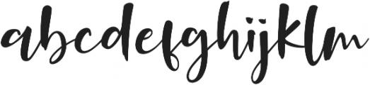 Onelove otf (400) Font LOWERCASE