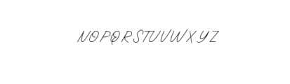 Oneliner-Regular.ttf Font UPPERCASE