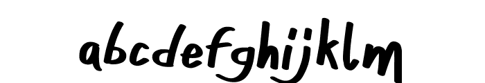 ONEFINGER_CRE Font LOWERCASE