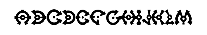 On Target Font LOWERCASE