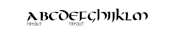 Oncial Tryout Font LOWERCASE