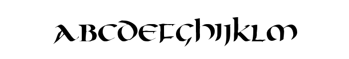 Oncial Font LOWERCASE
