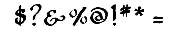 Onciale PhF Font OTHER CHARS