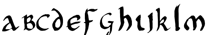 Onciale PhF Font LOWERCASE
