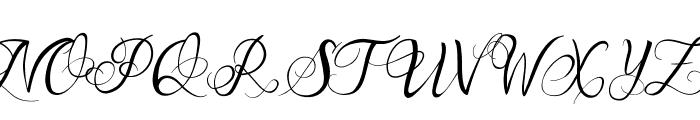 One Chance Script Regular Font UPPERCASE