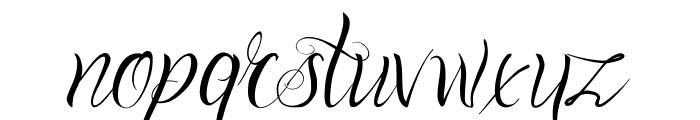 One Chance Script Regular Font LOWERCASE