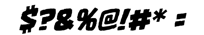OneTwoPunch BB Italic Font OTHER CHARS
