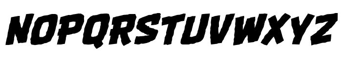 OneTwoPunchBB-Italic Font UPPERCASE