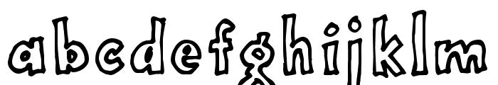 OnepunchJimoutline Font LOWERCASE