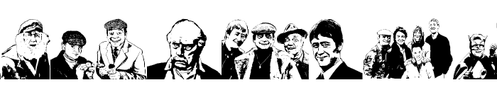 Only Fools and Horses Lovely Jubbly Font UPPERCASE