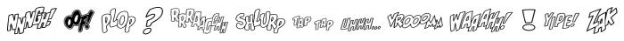Onomatopedia Echo Font LOWERCASE