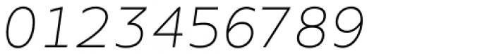 Ondo Extra Light Italic Font OTHER CHARS