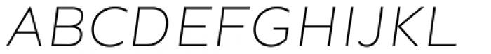 Ondo Extra Light Italic Font UPPERCASE