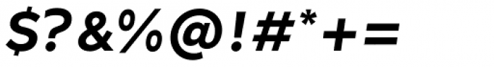 Ondo Medium Italic Font OTHER CHARS
