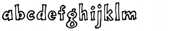 Onepunch Jim Outline Font LOWERCASE