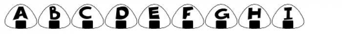 Onigiri Font UPPERCASE