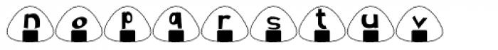 Onigiri Font LOWERCASE