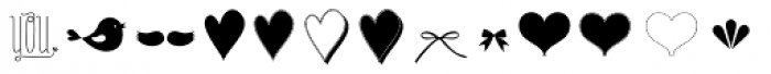 Only You Icons Adorable Font UPPERCASE