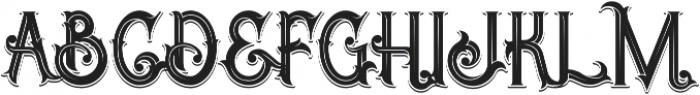 Opera Shadow Inline otf (400) Font UPPERCASE