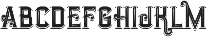 Opera Shadow Inline otf (400) Font LOWERCASE