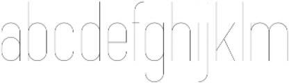 Opinio ExtraLight otf (200) Font LOWERCASE