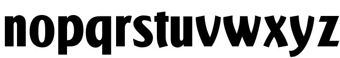 OPTIActon-Heavy Font LOWERCASE