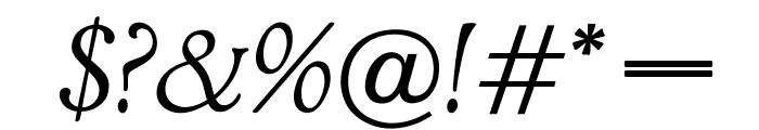 OPTIAdministerLightItalic Font OTHER CHARS