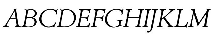 OPTIAdministerLightItalic Font UPPERCASE