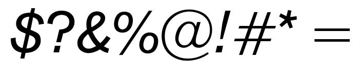 OPTIAkrogrotesk-Italic Font OTHER CHARS