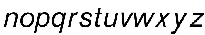 OPTIAkrogrotesk-Italic Font LOWERCASE