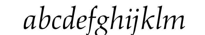 OPTIAlkas-Italic Font LOWERCASE