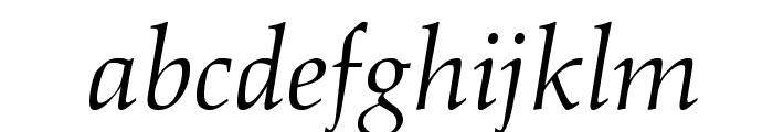 OPTIAlkasA-Italic Font LOWERCASE