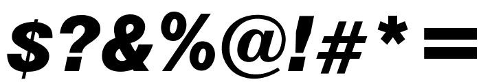 OPTIAlpine-BoldItalic Font OTHER CHARS