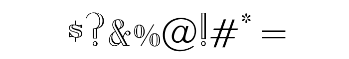 OPTIAmadeus-Open Font OTHER CHARS
