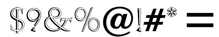 OPTIAmanda-Inline Font OTHER CHARS