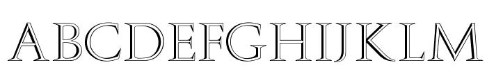 OPTIAmanda-Inline Font UPPERCASE