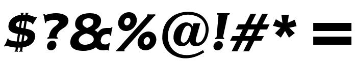 OPTIAmericanGothic-BoldItalic Font OTHER CHARS