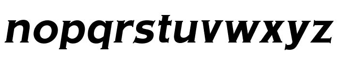 OPTIAmericanGothic-BoldItalic Font LOWERCASE
